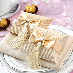 Bow Pillow Favor Boxes - 60pcs