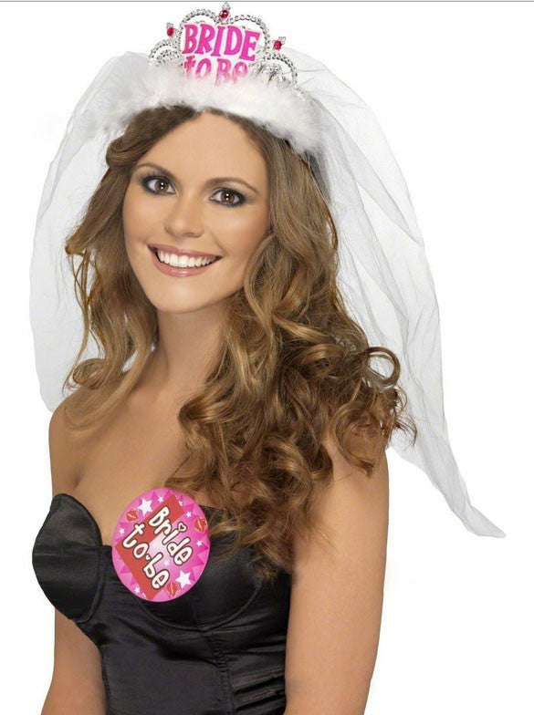 Hen Party Bride To Be Tiara & Veil