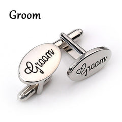Silver Oval Personalised Cufflinks