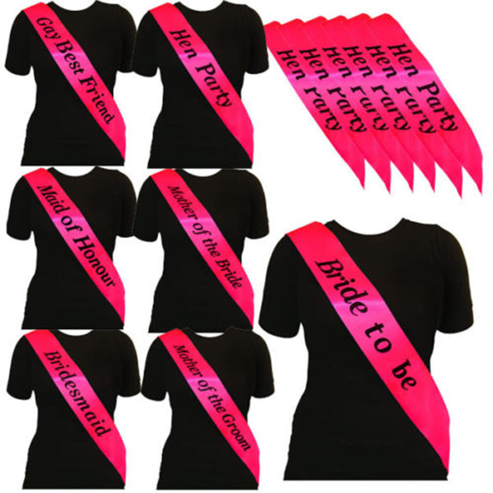 1pc Hen Party Sash - Various Designs & Colours