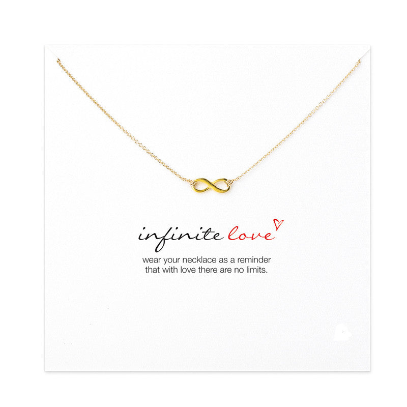 Infinity Love Necklace With Message