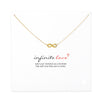 Image of Infinity Love Necklace With Message