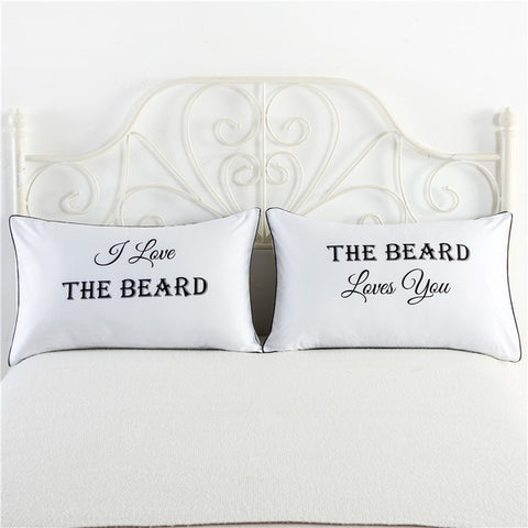 Mr & Mrs Themed 2pc Pillow Case Set