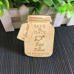 Personalised Jar Shaped Save The Date Magnet