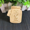 Image of Personalised Jar Shaped Save The Date Magnet