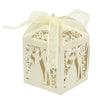 Image of Bride & Groom Silhouette Favor Boxes - 10pcs