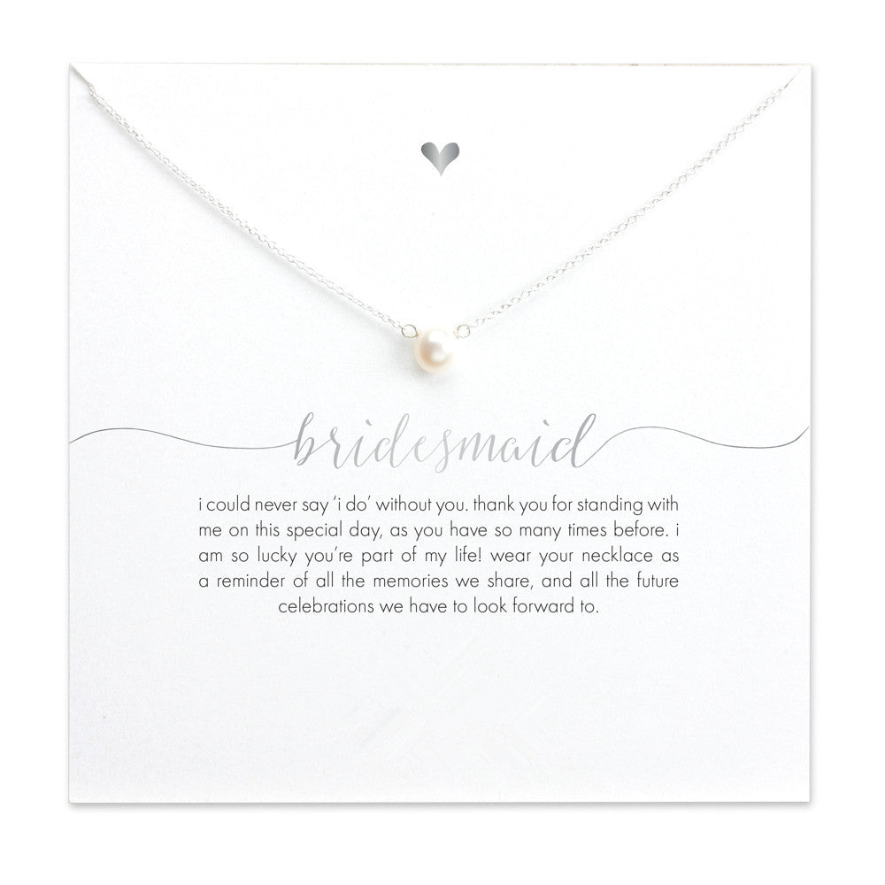 Bridesmaid Faux Pearl Necklace