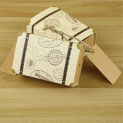 Mini Suitcase Favor Boxes - 100pcs