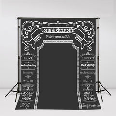 Chalkboard Style Personalised Photo Backdrop