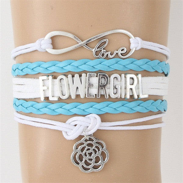 Flowergirl Faux Leather Bracelet