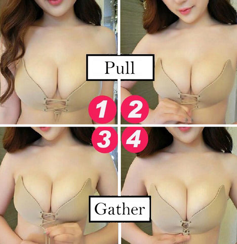 Nude Look Strapless Backless Pushup Bra