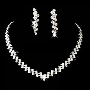 Diamante Bridal Necklace & Earring Set