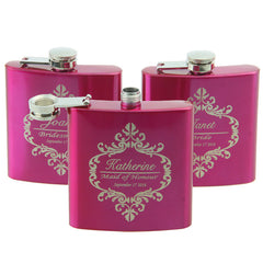 Personalised Pink Hip Flask