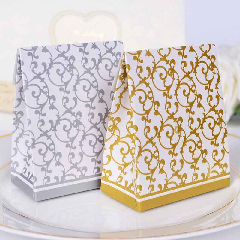 Silver / Gold Favor Bags - 10pcs