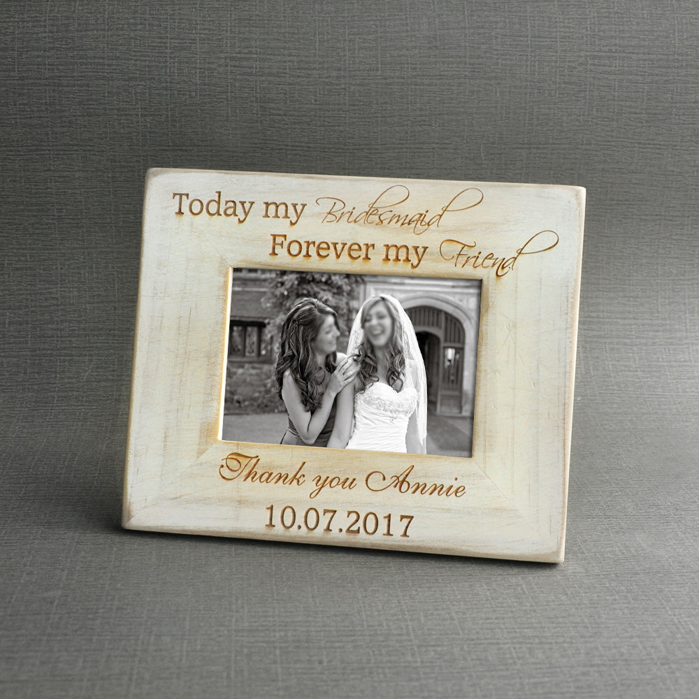 Personalised Bridesmaid Picture Frame