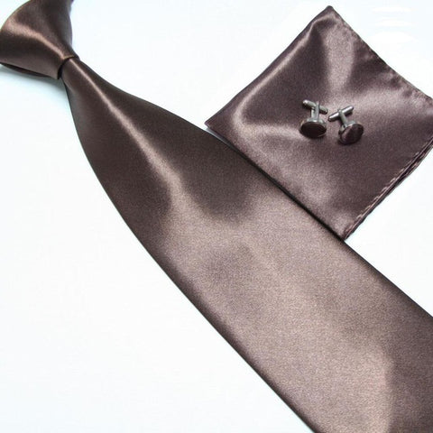 Satin Necktie, Hanky & Cufflinks Set