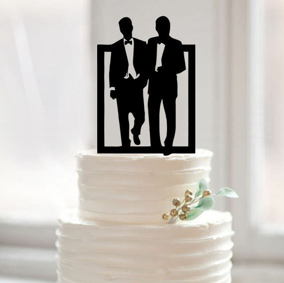 Mr & Mr Frame Wedding Cake Topper