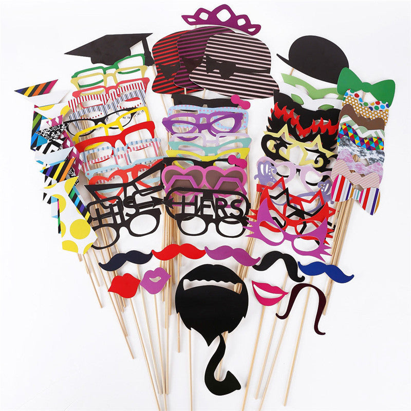 76pcs DIY Photo Booth Props
