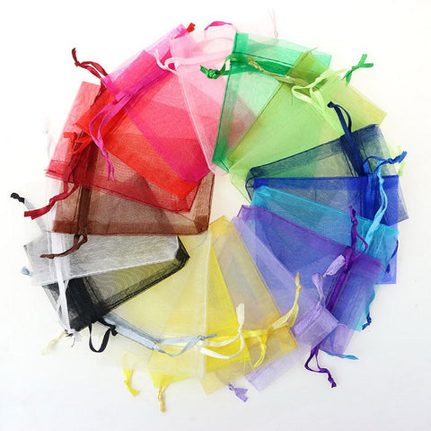 Net Drawstring Favor Bags - 100pcs