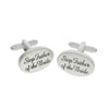Image of Silver Oval Personalised Cufflinks