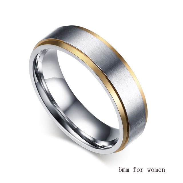 Wide Matte Ribbon His & Hers Wedding Bands
