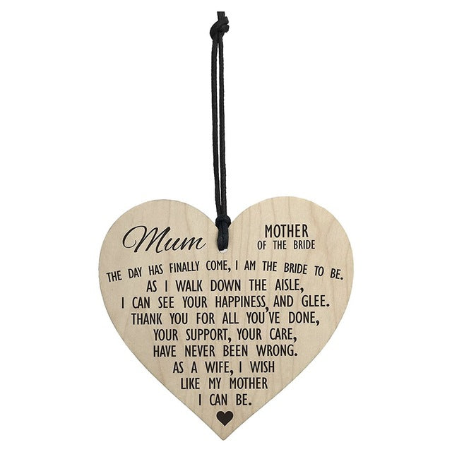 Mother of the Bride Hanging Sign