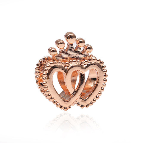 Interlocked Heart Charm