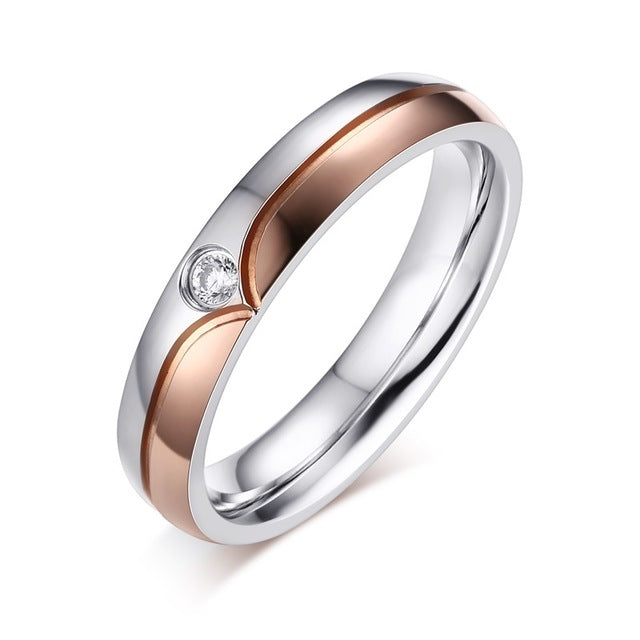 Polar Zirconia His & Hers Wedding Bands
