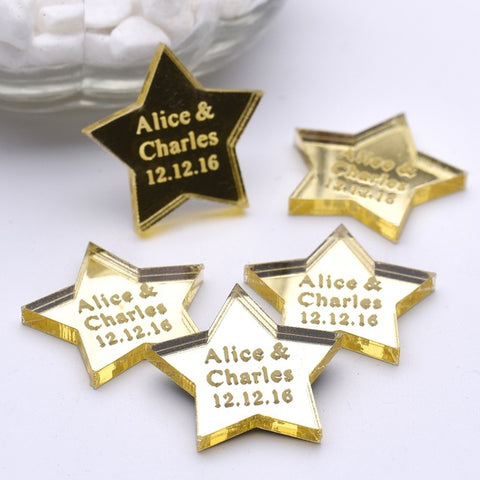 Personalised Table Stars