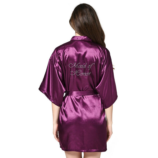 Personalised Satin Robes