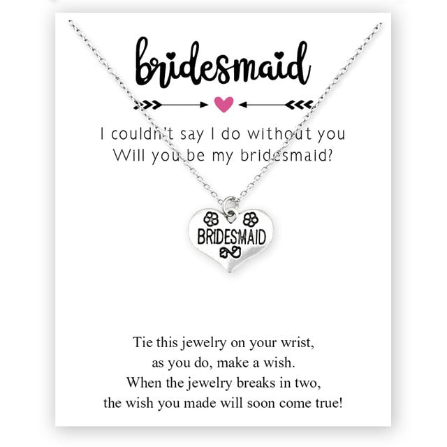 Women's Bridal Party Carded Jewellery