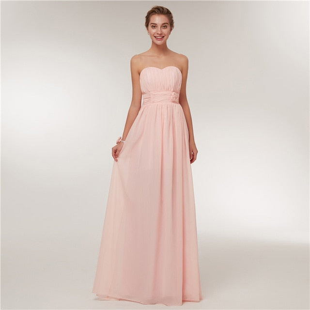 Baby Pink Sweetheart Bridesmaid Dress