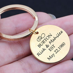 Personalised Mr & Mrs Keyring - BUY ONE GET ONE FREE