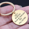 Image of Personalised Mr & Mrs Keyring - BUY ONE GET ONE FREE