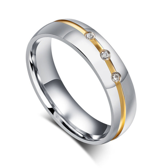 Slim Gold Plated Ribbon His & Hers Wedding Bands