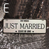 Image of Just Married Car Plate