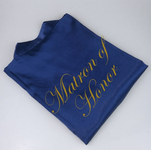 Personalised Morning of the Wedding Robes - Navy