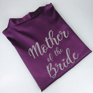Personalised Morning of the Wedding Robes - Purple