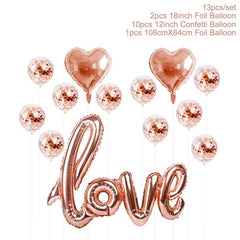 Rose Gold Love Helium Balloons