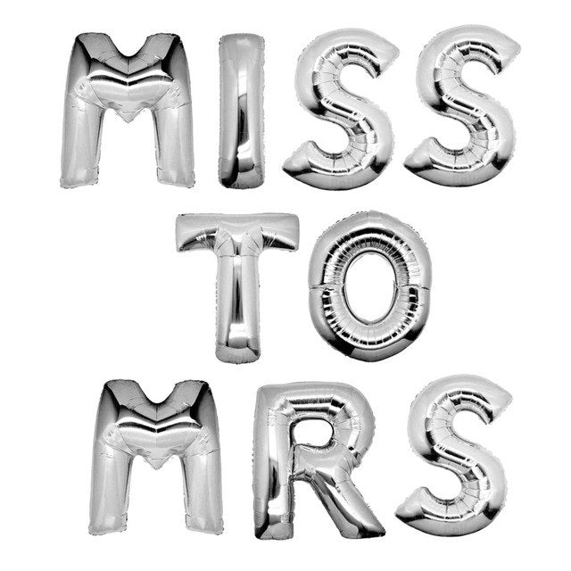 Miss To Mrs Balloons