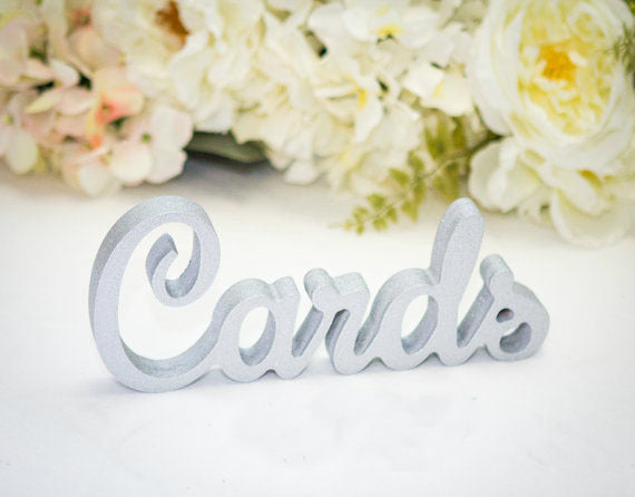 "Freestanding 3D ""Cards"" Sign"