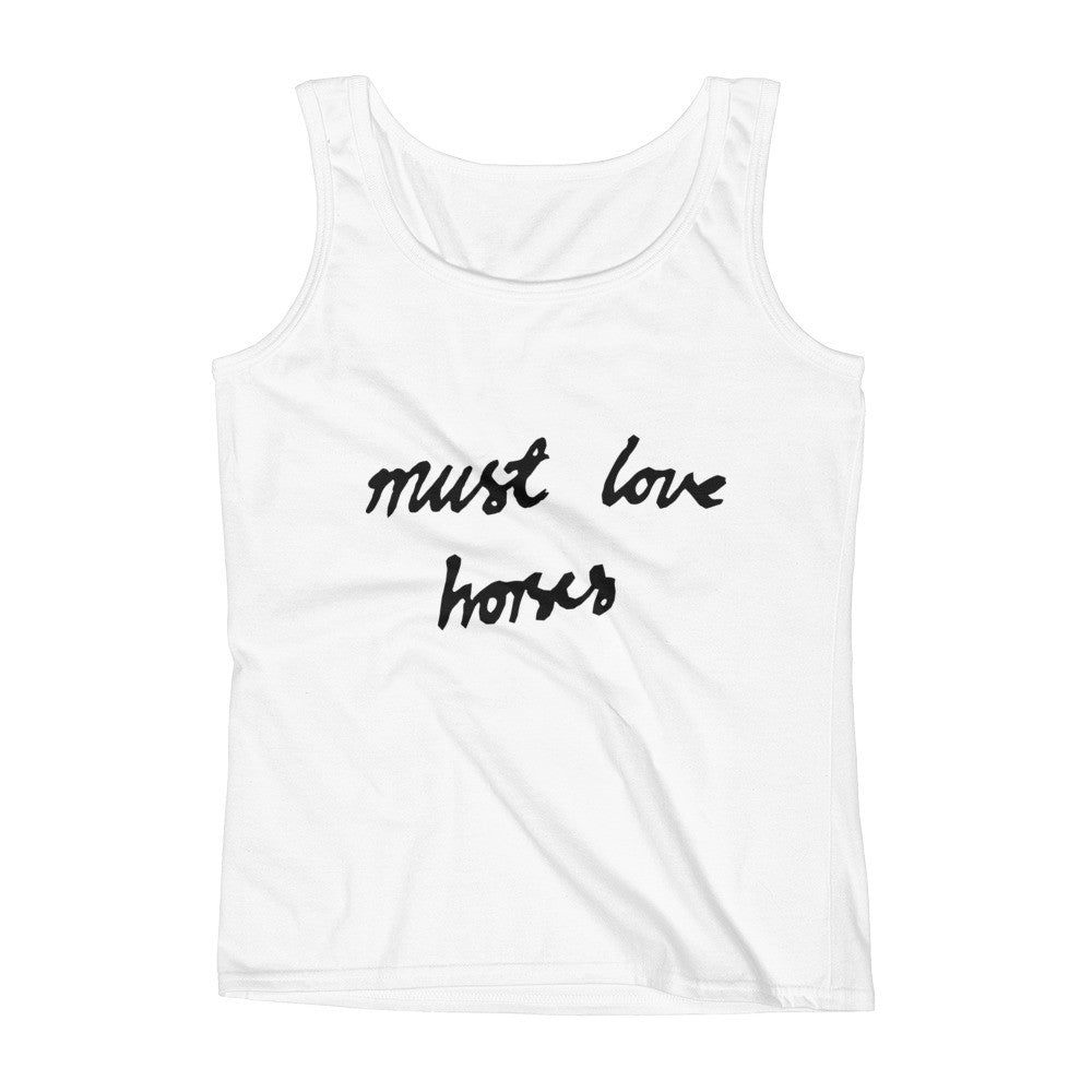 Must Love Horses - Must Love Horses - Tank Top - WHITE