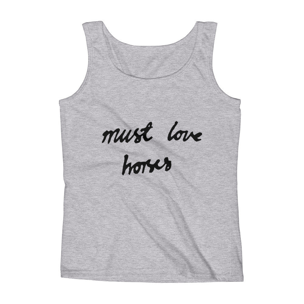 Must Love Horses - Must Love Horses - Tank Top - GREY