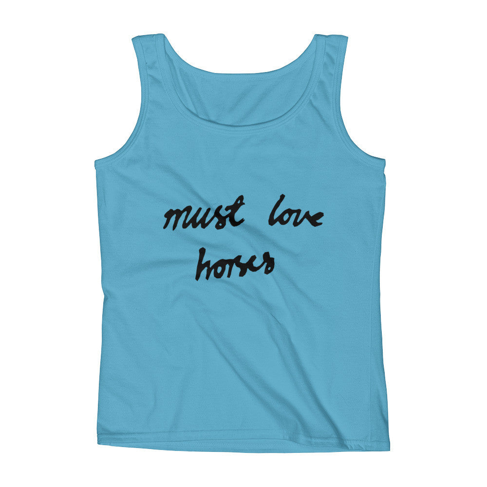 Must Love Horses - Must Love Horses - Tank Top - BLUE