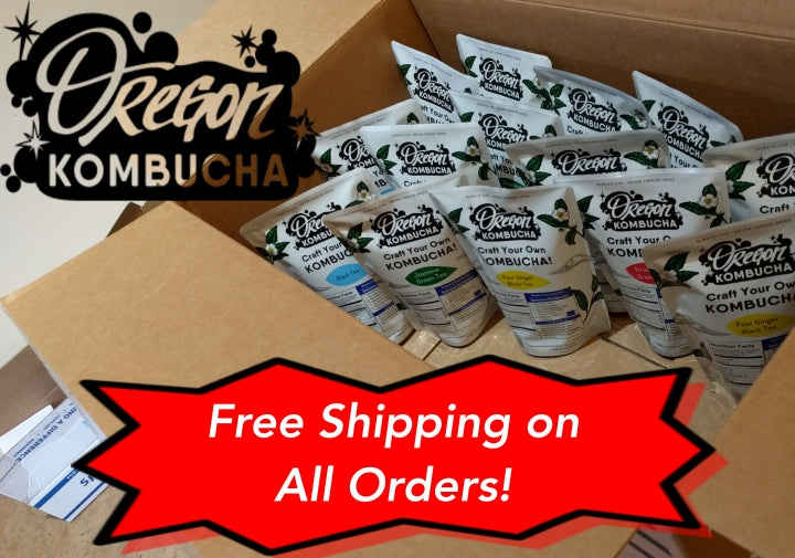 Oregon Kombucha Offers Free Shipping with Every Purchase!