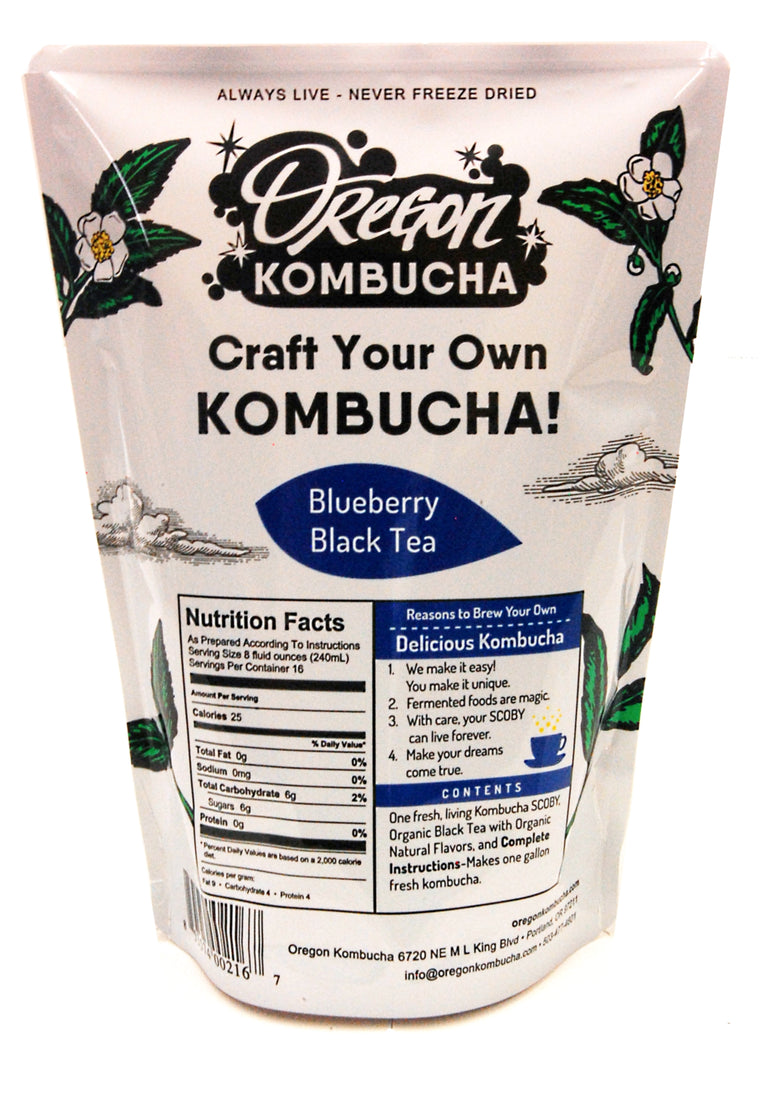 Basic Blueberry Black Tea Kombucha Starter Kit