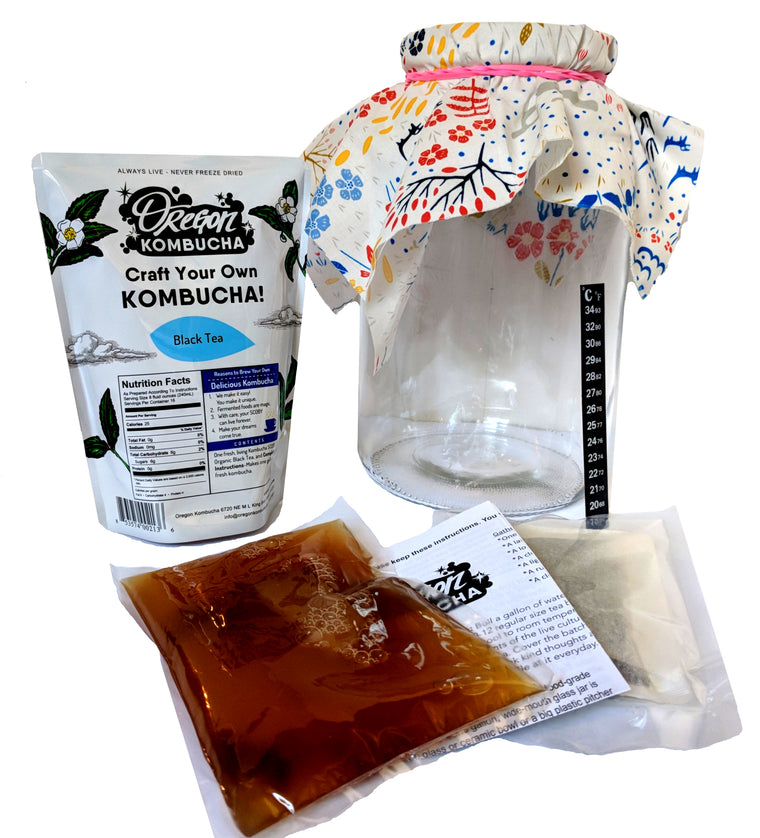 The Just Add Water Kombucha Home Brewing Starter Kit