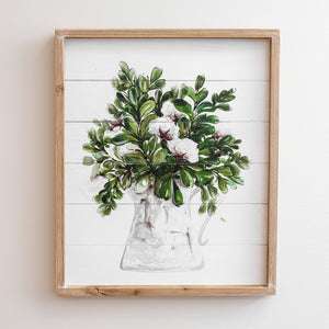 Cotton & Greenery Wall Decor - Mama's Junk Co.