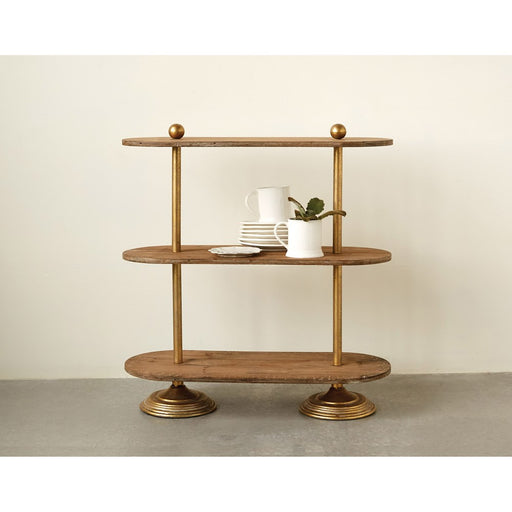 Metal & Wood 3-Tier Shelf