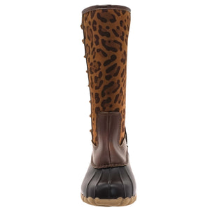 Load image into Gallery viewer, Women's Tall Boot | Leopard - Mama's Junk Co.